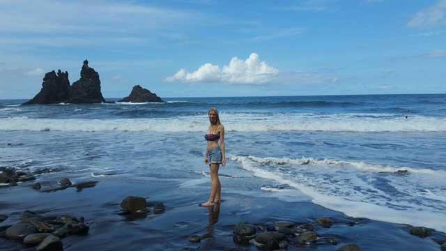 Beautiful Benijo Beach of Tenerife in Spain
