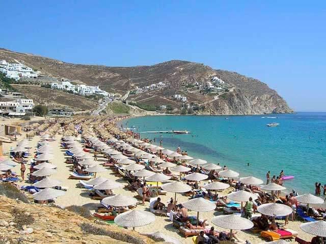 Best Beaches on the Greek Island Mykonos - Elia Beach