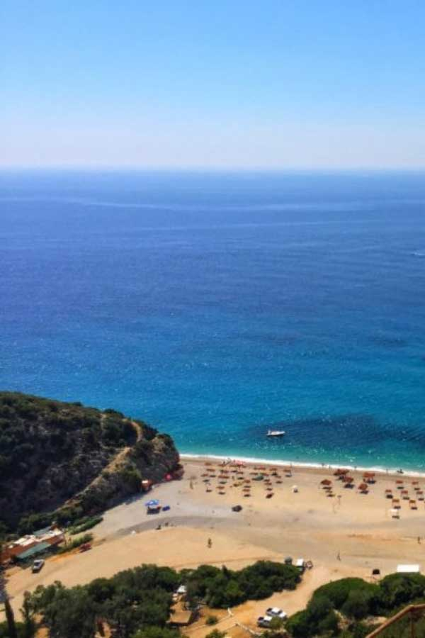Gjipe Beach of the Albanian Riviera in Albania