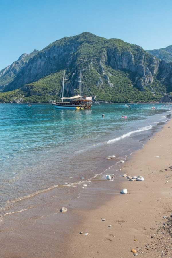 Beach Holiday Destinations - Olympos Beach in Antalya, Turkey