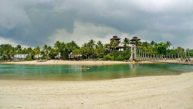 Palawan Beach of Sentosa Island in Singapore