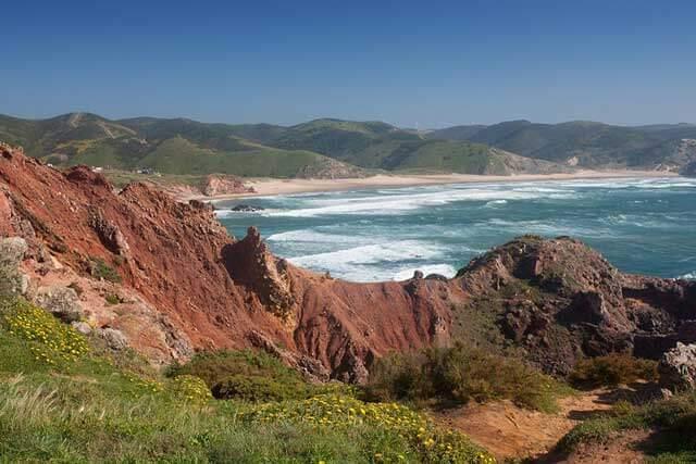 Praia do Amado Beach in the Costa Vicentina, Portugal