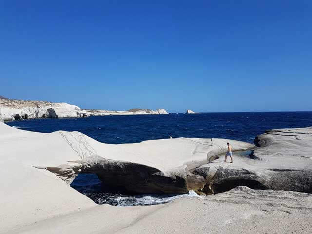 The Greek island of Milos - Sarakiniko Beach