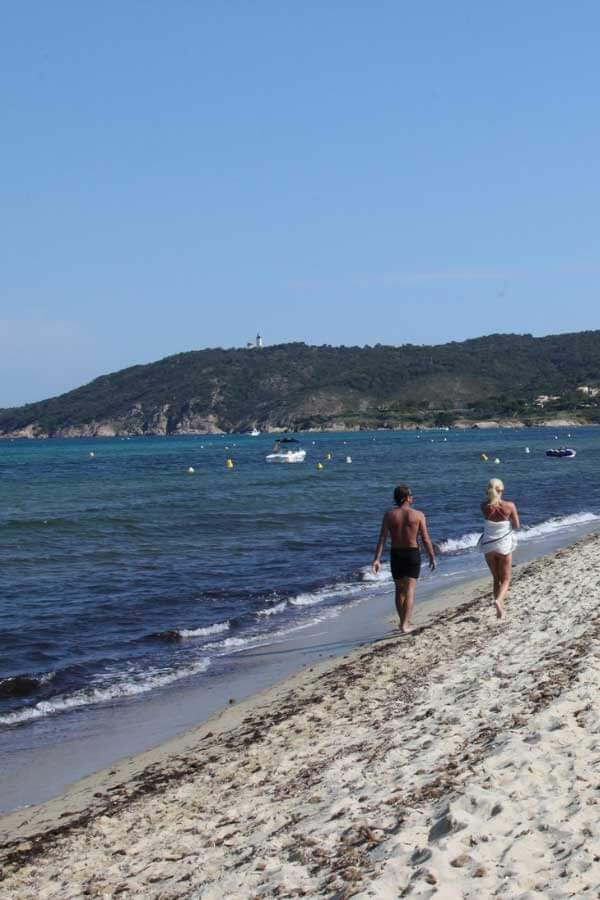St Tropez Beach Shoreline in France
