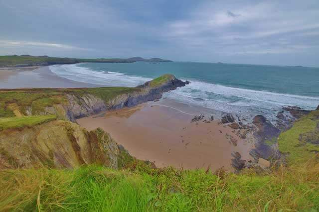 Whitesands Beach of the Pembrokeshire Coast in Wales, UK