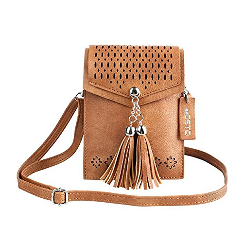 15becca73bf9 seOSTO Tassel Cell Phone Purse is one of the best crossbody bags for travel  and daily use. It is multifunctional and perfect to use as a travel wallet  where ...
