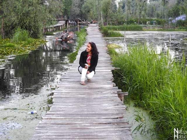 Beautiful walkway of Srinagar Dal Lake Floating Markets