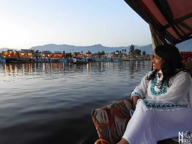 The stunning view of the Dal Lake houseboats