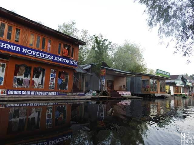 Floating shops Meena Bazar of Dal Lake