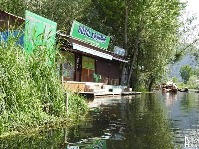Floating shops on Srinagar Dal Lake