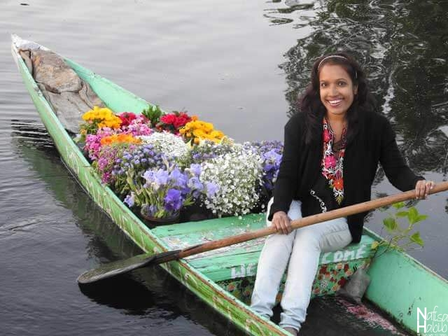 Flower Boat Srinagar Dal Lake Floating Markets