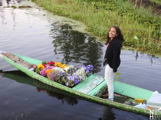Flower Boat of Dal Lake Floating Markets