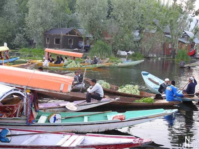 Srinagar Dal Lake Foating Market