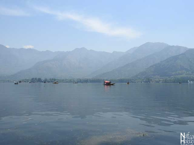 The foothills of Zabarwan Range with a view of Dal Lake