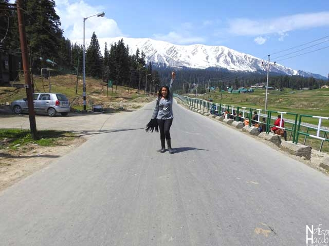 On the way to Gondola with the breathtaking view of Pir Panjal Mountain range in Gulmarg
