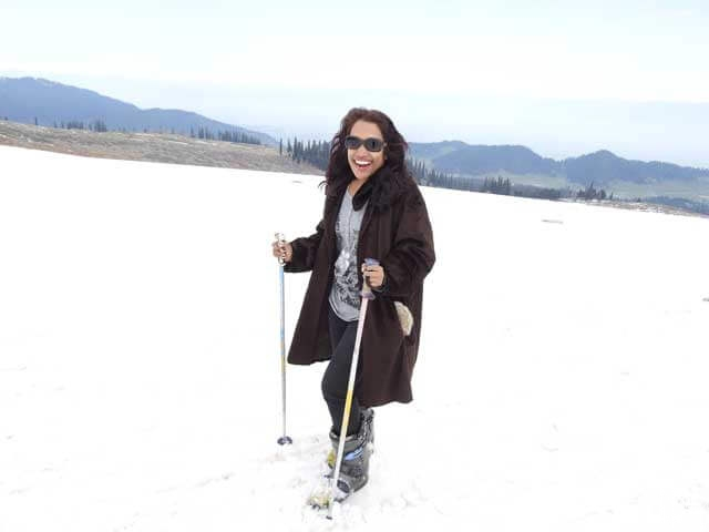 Snow skiing in Gulmarg in the month of April