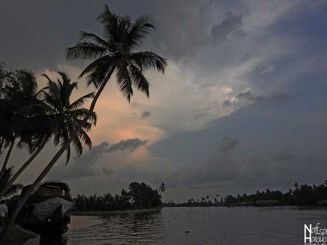 Beautiful Sunset in Alleppey Backwaters of Kerala