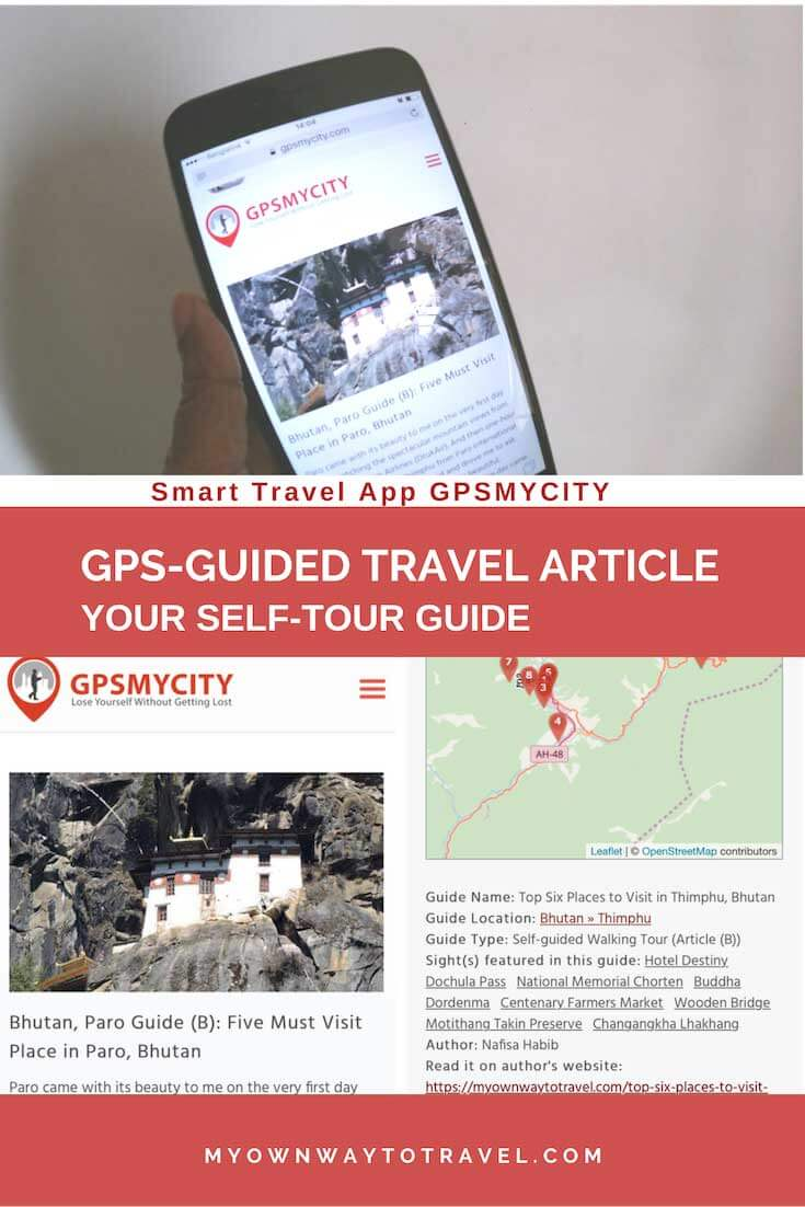 Smart Travel App GPSMYCITY - GPS-Guided Travel Article App