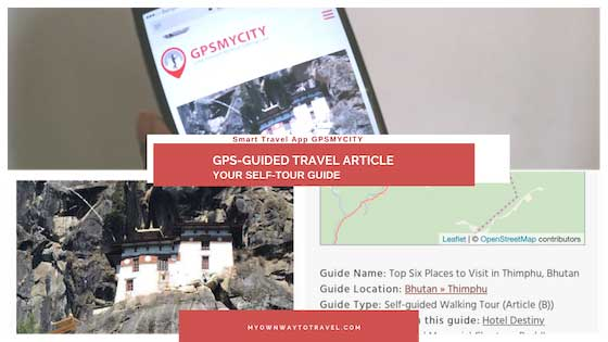 My Own Way To Travel with GPSMYCITY - GPS-Guided Travel Article App