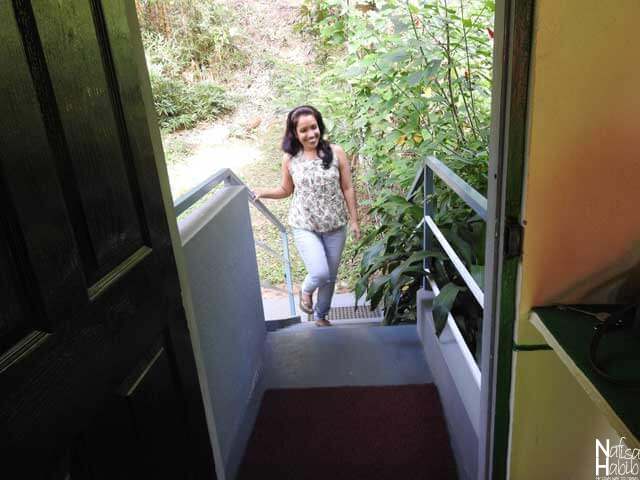 Private entrance to the room at Thoppil Homestay
