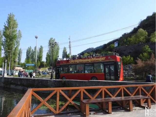 City Sightseeing Srinagar bus to explore Srinagar city