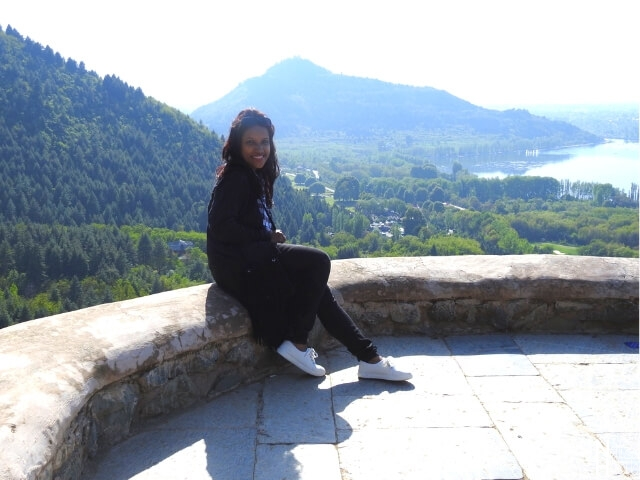 Pari Mahal Garden overlooks the scenic view of Dal Lake