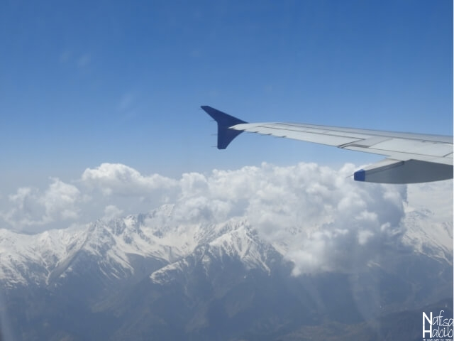 The breathtaking view of Pir Panjal Mountain range from IndiGo Airlines
