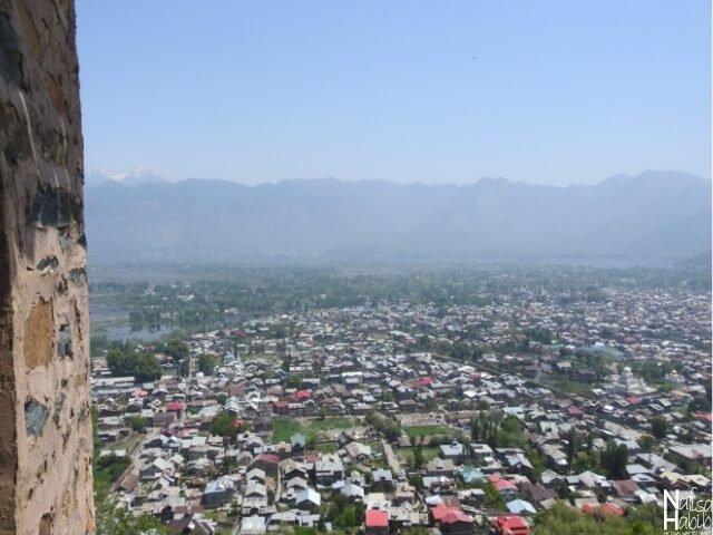 Srinagar City Top View from Hari Parbat Fort