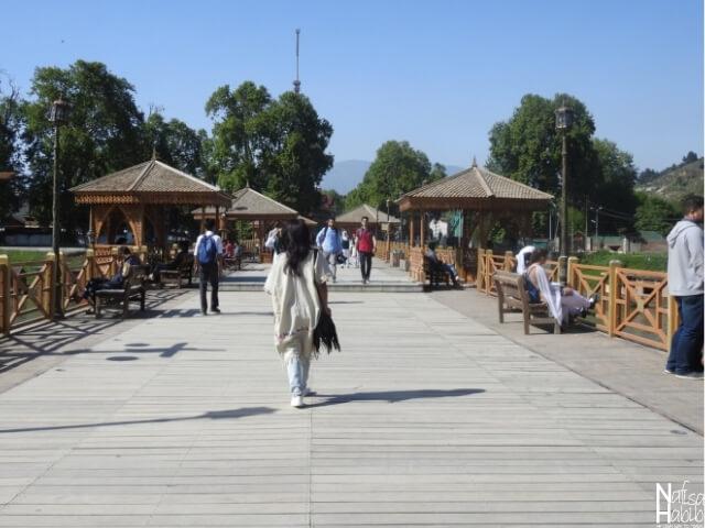 Wooden Bridge in Srinagar Jammu and Kashmir