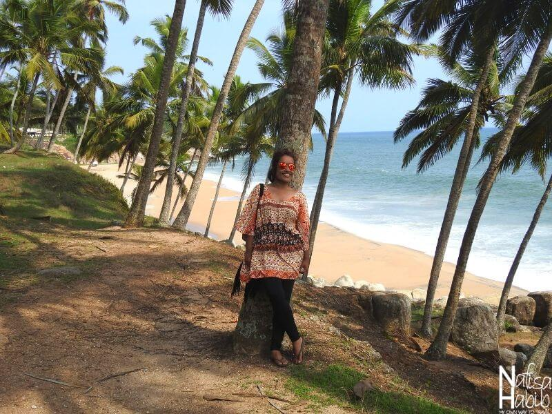 Coconut Beach in the coastal area of Kovalam
