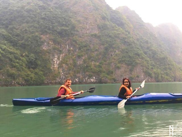 Top things to do - Kayaking with the breathtaking landscape of Halong Bay