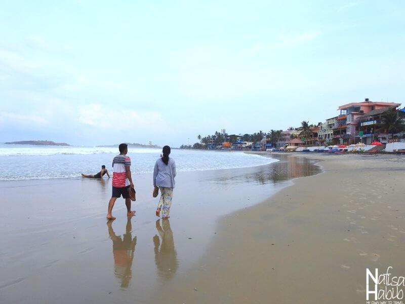 Morning beach walk in Kovalam Lighthouse Beach