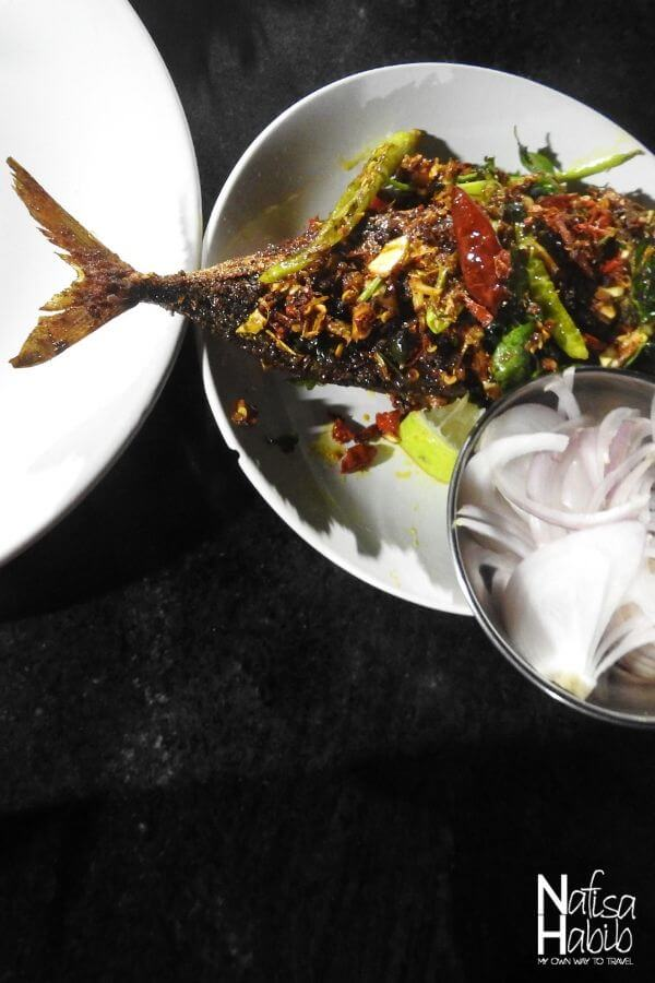 Sea fish fry from Kovalam seafood corner