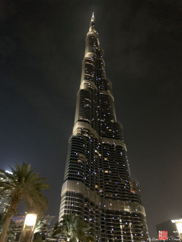 Top things to do in Dubai - Burj Khalifa at night from the promenade of Dubai Mall?