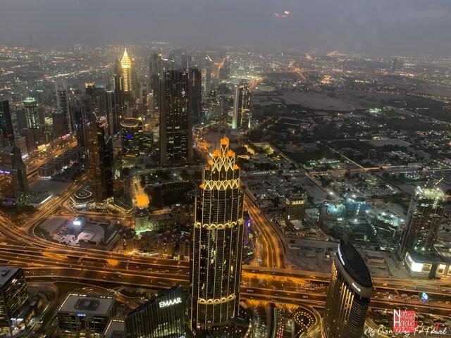 Dubai skyline view at the top of Burj Khalifa