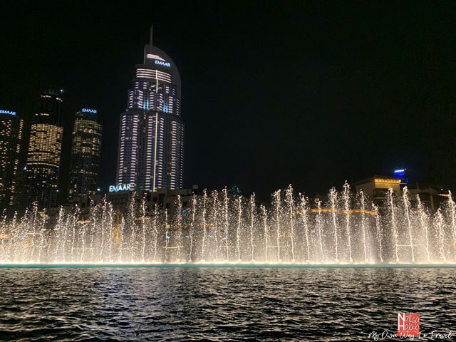 Free Things to do in Dubai at night - World's Tallest Performing Dubai Fountain Show