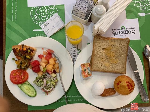 Buffet breakfast at Gateway Hotel Dubai