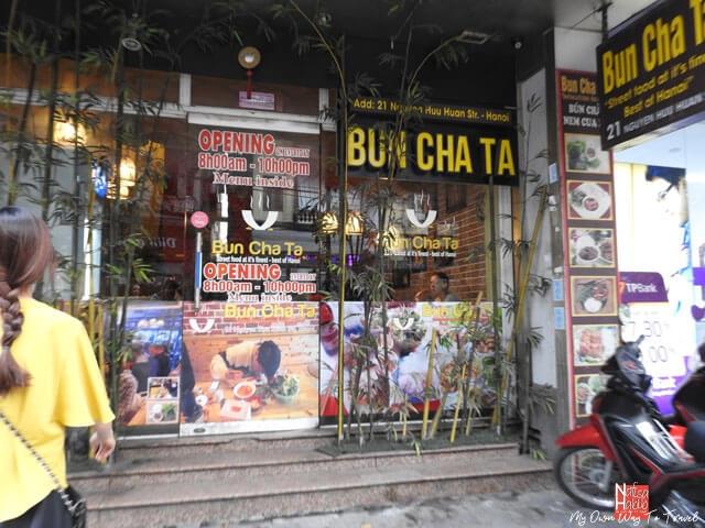 Bun Cha Ta Hanoi Vietmese restaurant