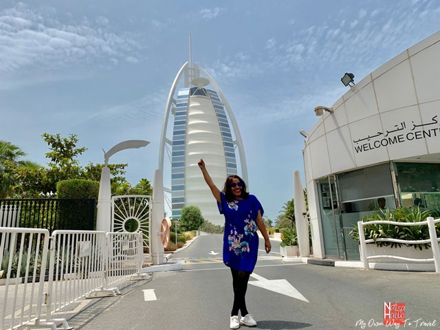 Close view of Burj Al Arab from Umm Suqeim 3 Area