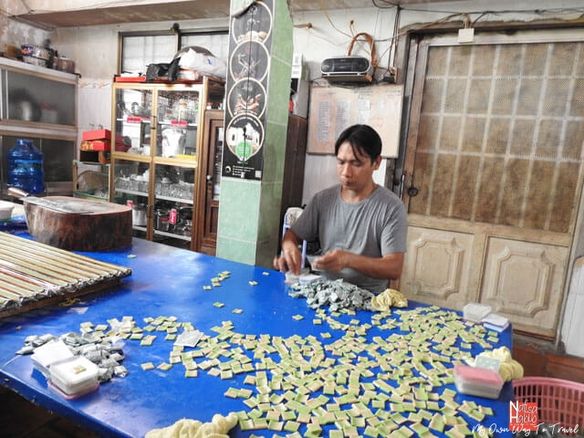 Handmade coconut candy workshop in Mekong Delta