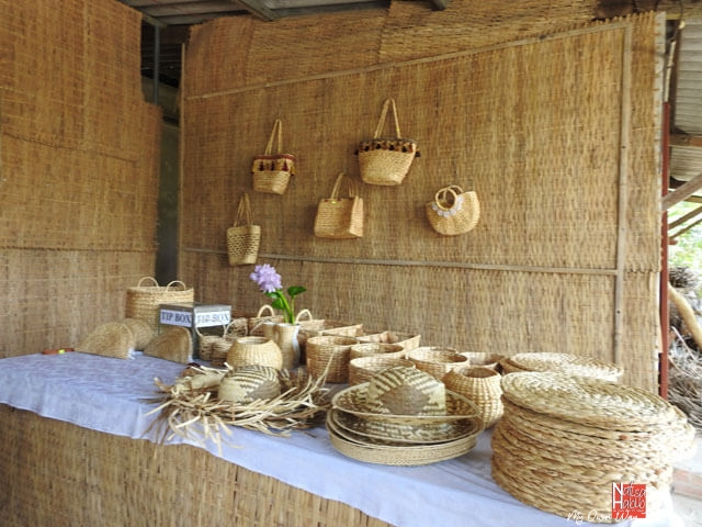 Eco-friendly products in Cai Be Handicraft village