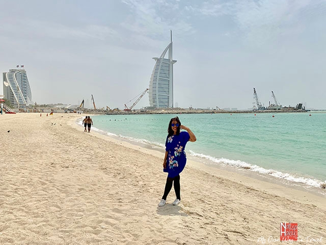 Famous Jumeirah Beach in Dubai