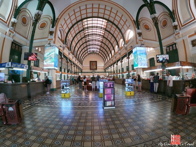 Gorgeous interior of Ho Chi Minh City Central Post Office