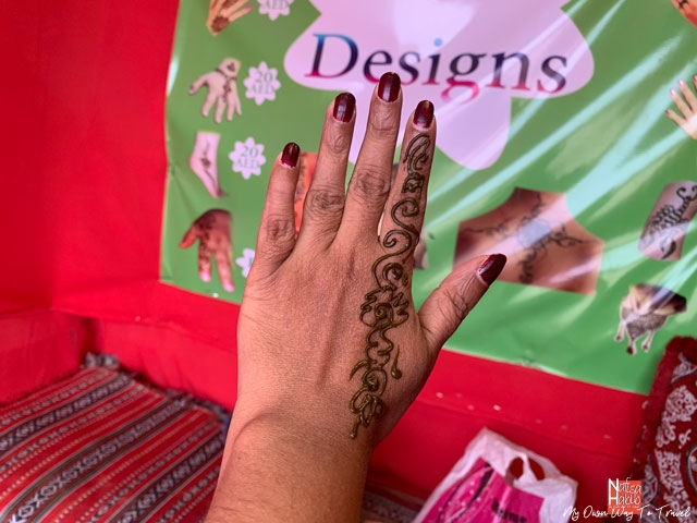 Henna time in desert camp Dubai