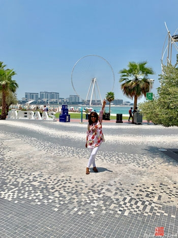 JBR Beach facing Ain Dubai