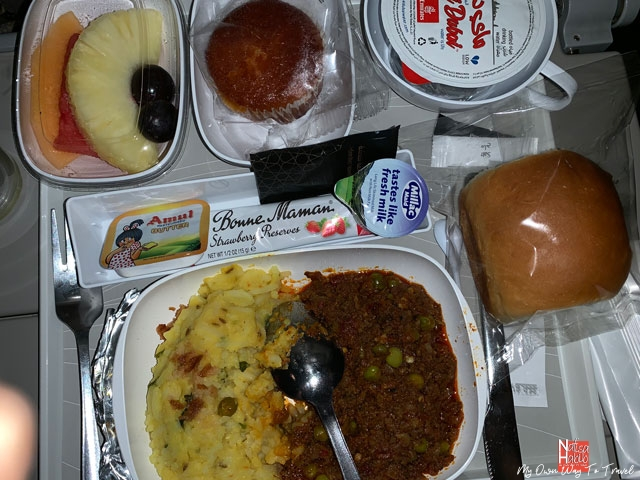 Kheema Mutter for breakfast at Emirates Airlines
