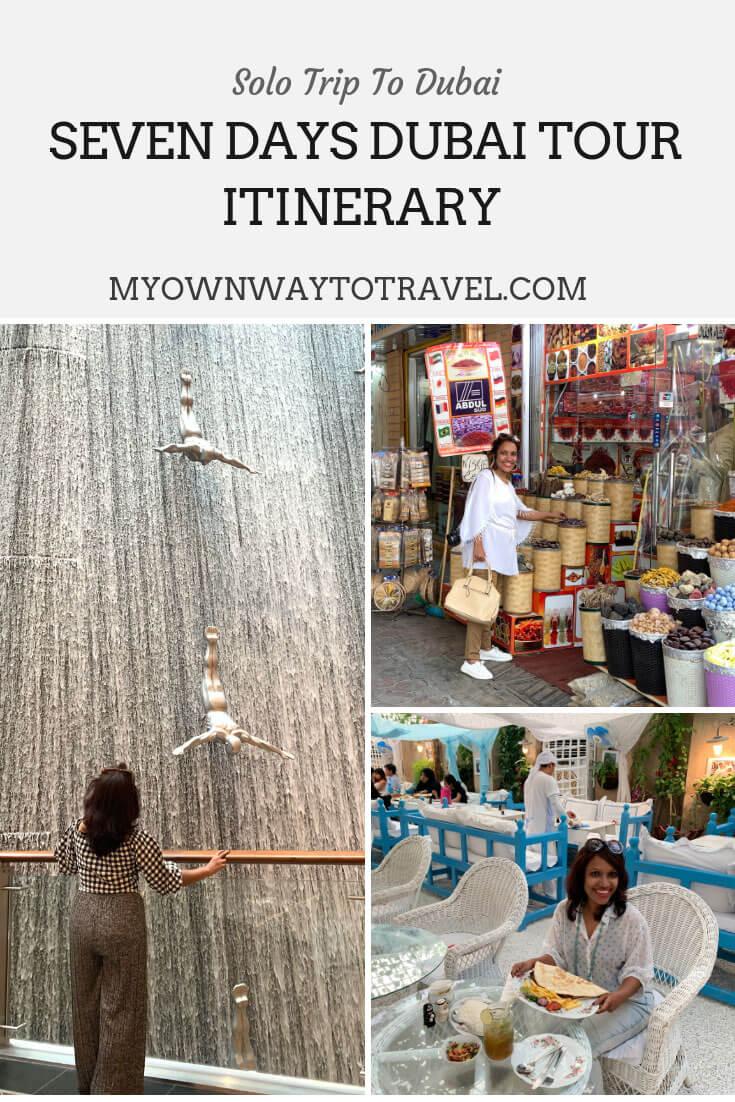 Seven Days Dubai Tour Itinerary