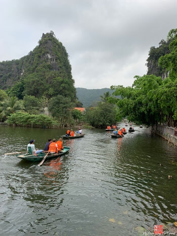 The boat tour of Tam Coc