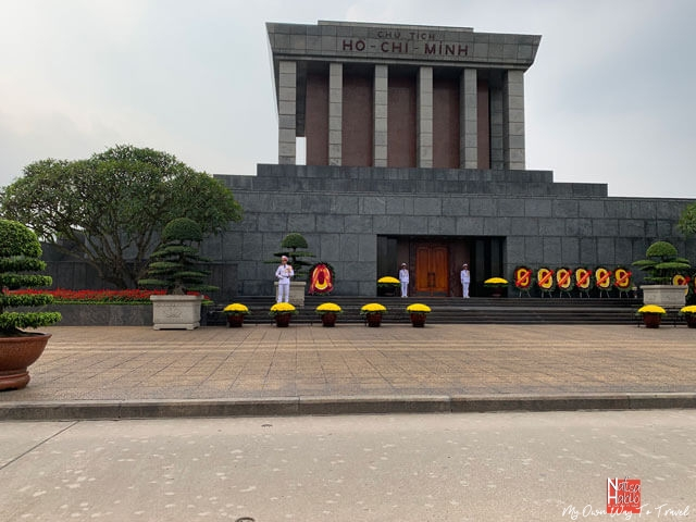 The historic Ho Chi Minh Mausoleum