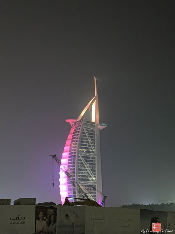 The view of Burj Al Arab from Jumeirah Beach
